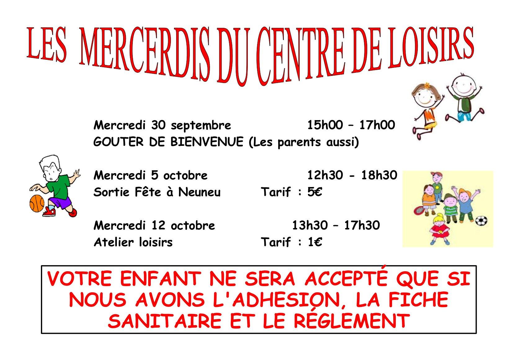 affiche centre de Loisirs