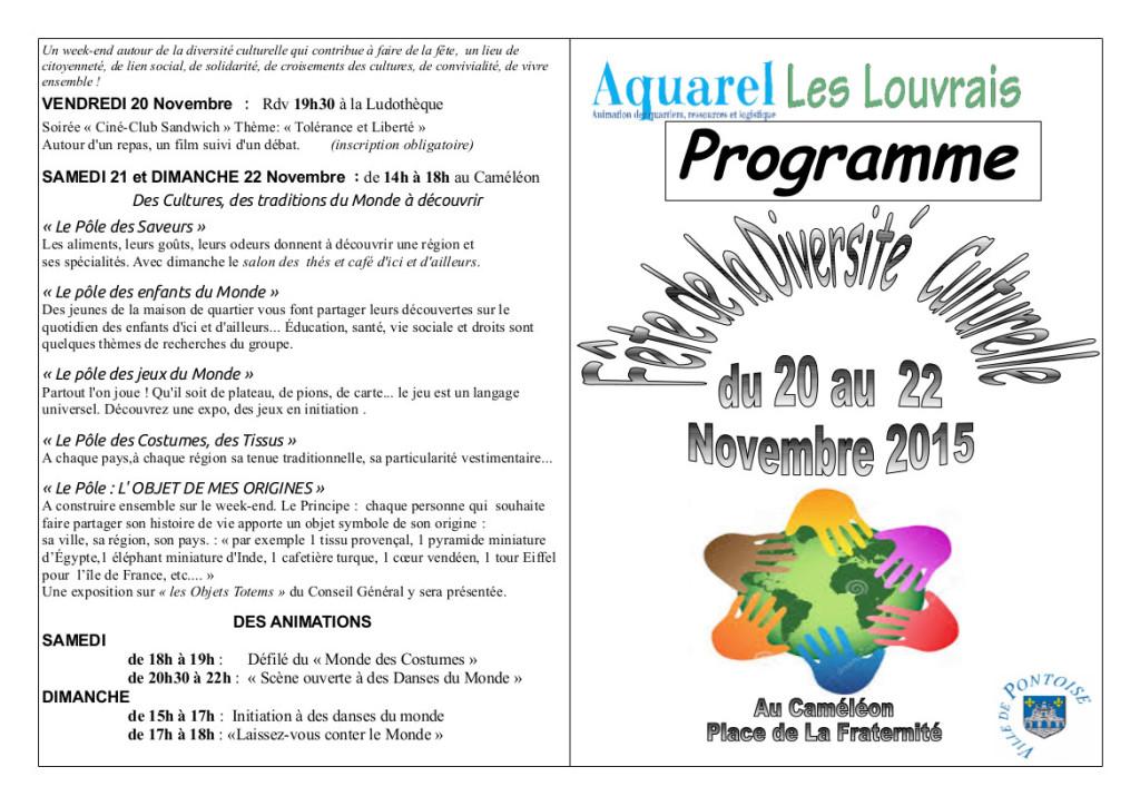 programme fete diversite de novembre