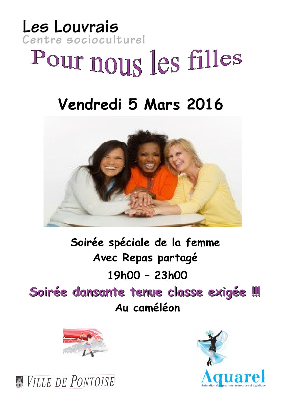 Affiche journnée de la femme 5 mars 2016