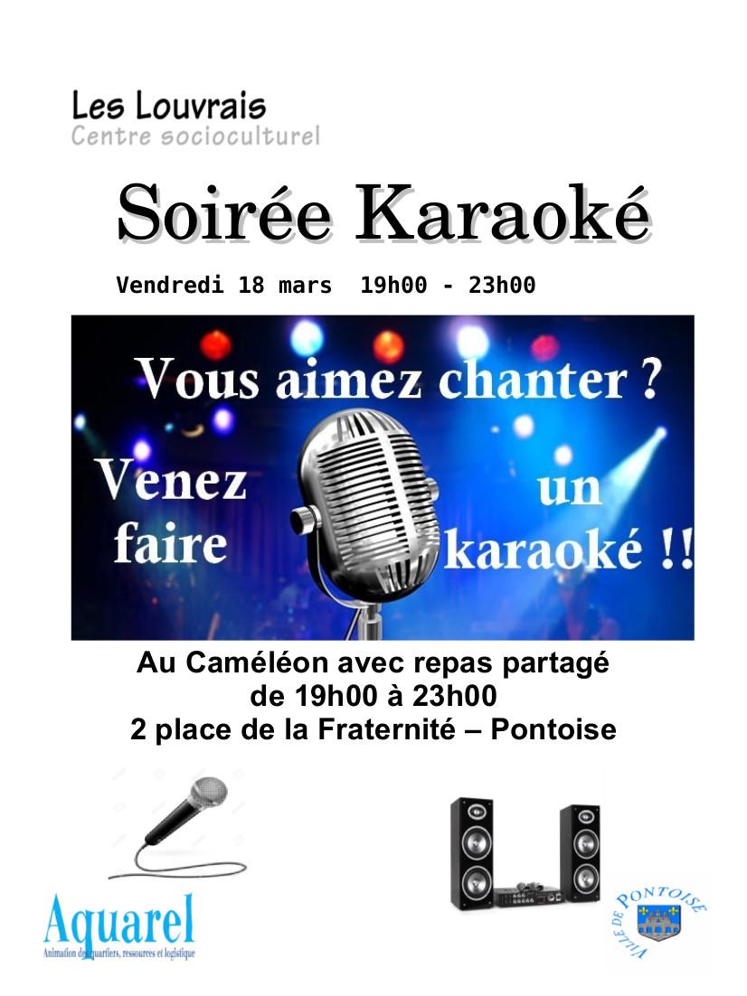 Affiche karaoké 18 mars 2016