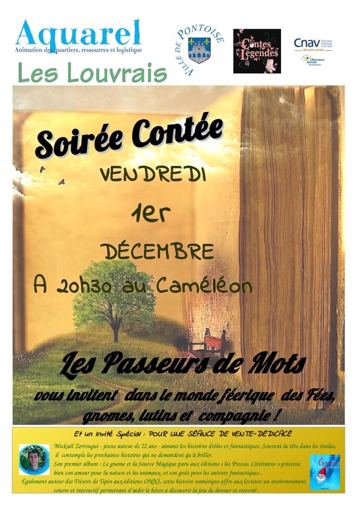 Affiche Soirée contée 01 decembre