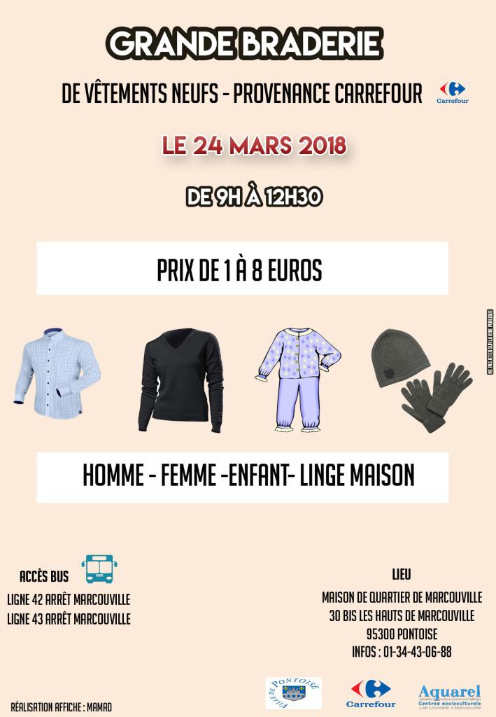 affiche braderie mars 2018