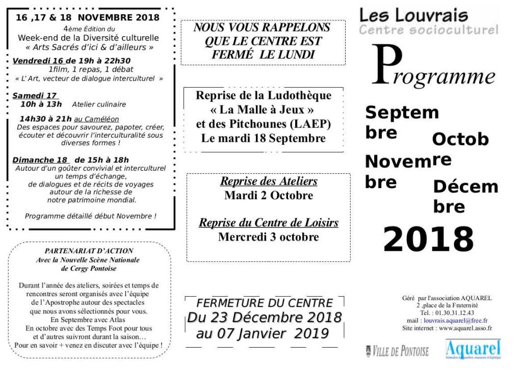 PLAQUETTE LOUVRAIS RENTREE 2018