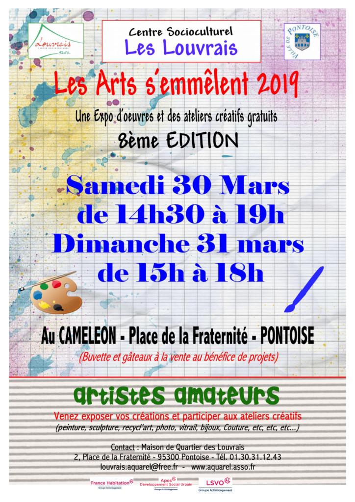 Affiche A3 arts avec APES samedi 30 mars 19